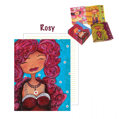 "Grand cahier de notes ""Rosy"""